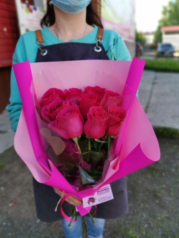 9 роз сорта Пинк Флоид
