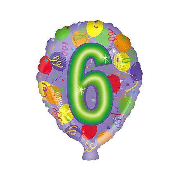 Фольгированный шар Цифра 6