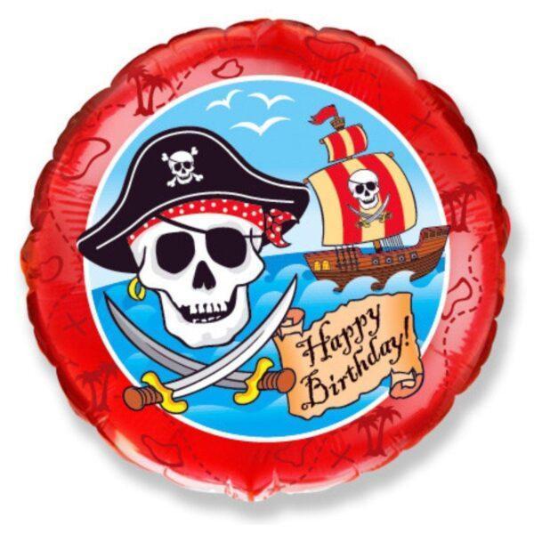 Фольгированный шар Happy Birthday (Пиратский)