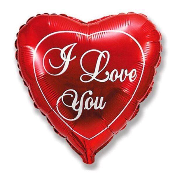 """Фольгированный шар """"I LOVE YOU"""" 32 д."""