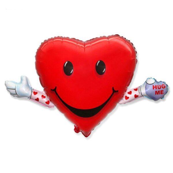 Фольгированный шар Сердце-обнимашки