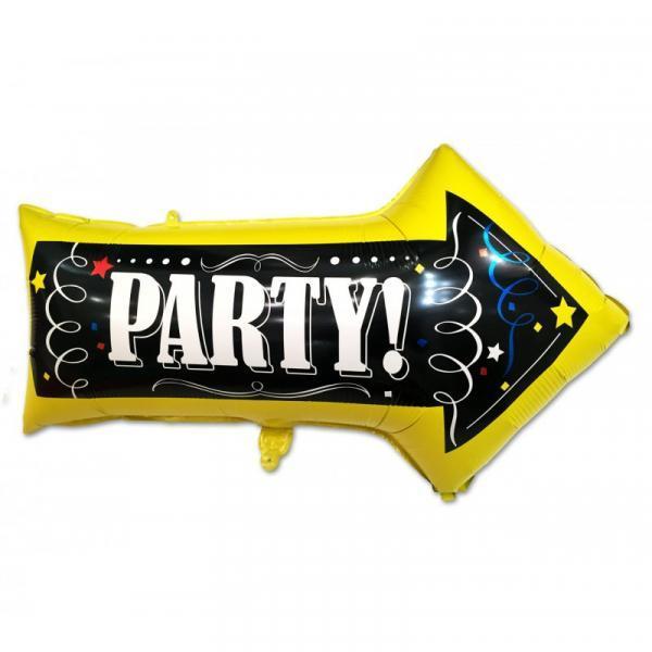 Фольгированный шар указатель Party