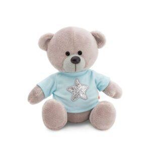 """Плюшевый Медведь """"В голубой кофте"""" 20 см"""