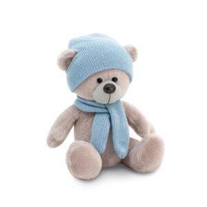 """Плюшевый медведь """"Топтыжкин""""(голубого цвета) 17 см"""