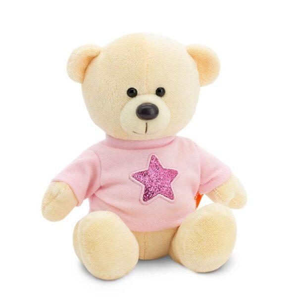 Плюшевый медведь в розовой кофте