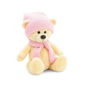 """плюшевый медведь """"Топтыжкин"""" (розового цвета) 17 см"""